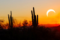 Partial Eclipse Seen From Cave Creek Arizona II