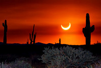Partial Eclipse from Cave Creek Arizona 5.20.12