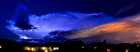 March Thunderhead Night Panorama