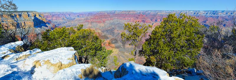 Snowy Rim Panorama